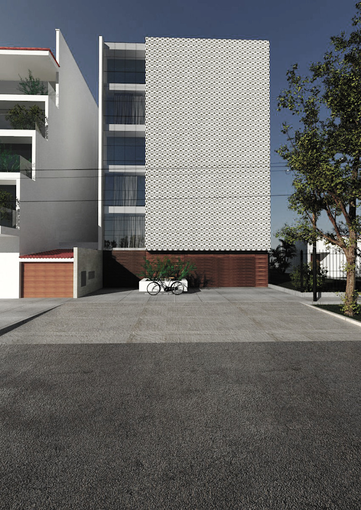 CN y Arquitectos Multi-Family house Reinforced concrete White