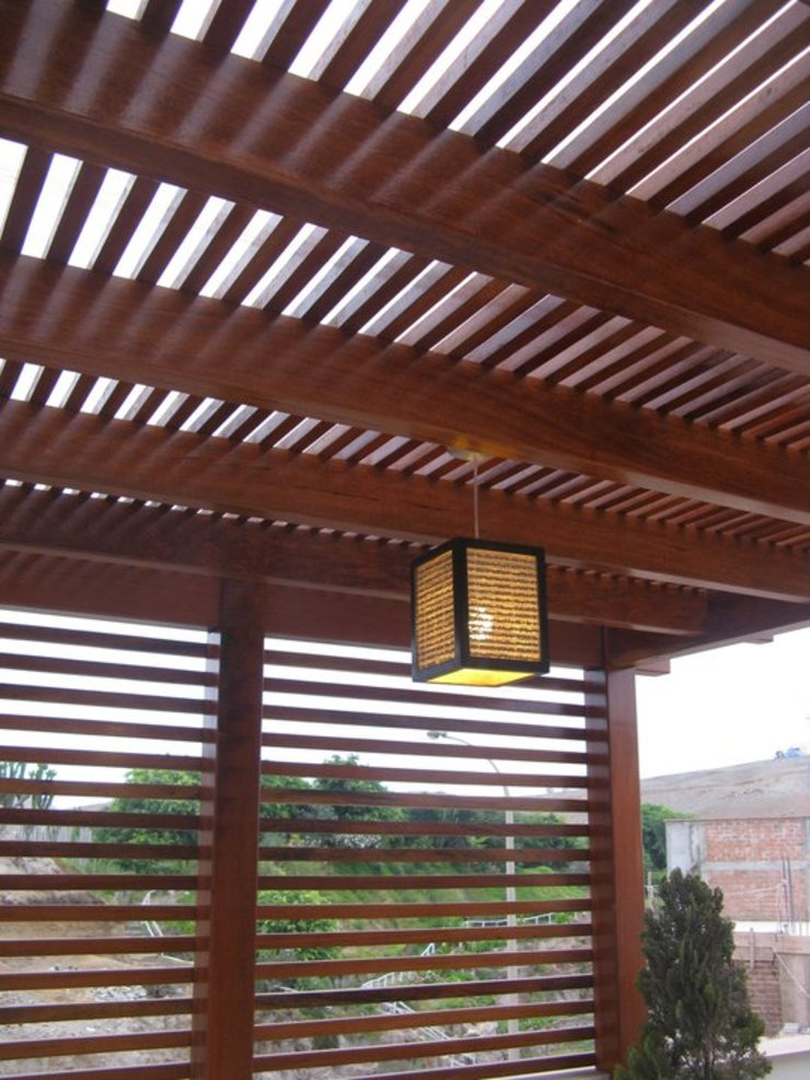 Casa D Santiago de Surco Arquitotal SAC Balcon, Veranda & Terrasse modernes