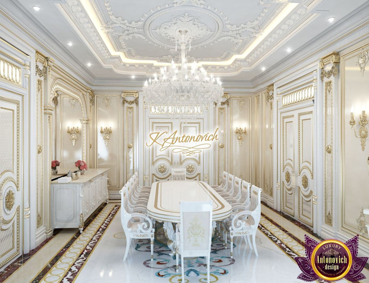 Interior design projects in Dubai from Katrina Antonovich Classic style dining room by Luxury Antonovich Design Classic