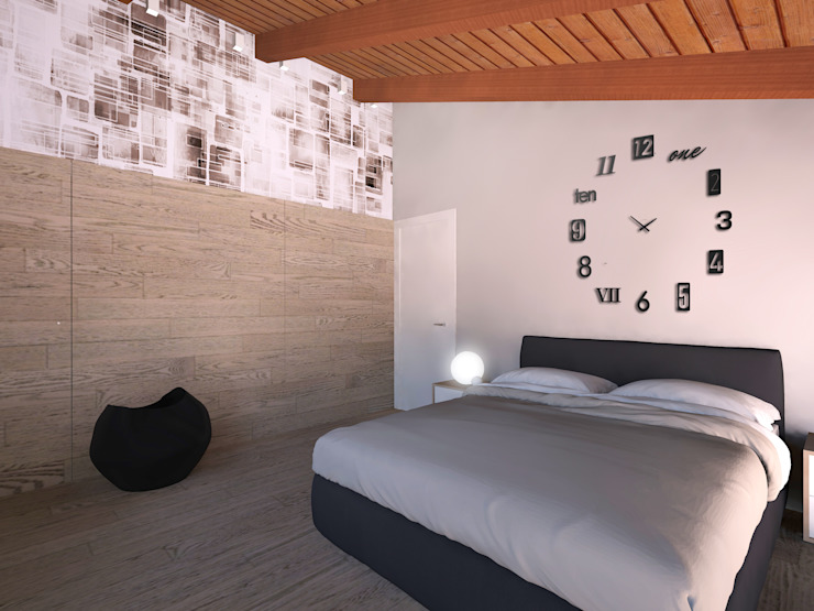 Modern Bedroom by Flavia Benigni Architetto Modern