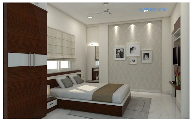Project in Bachupally @ Praneeth Antilia to Peter Asian style bedroom by shree lalitha consultants Asian Engineered Wood Transparent
