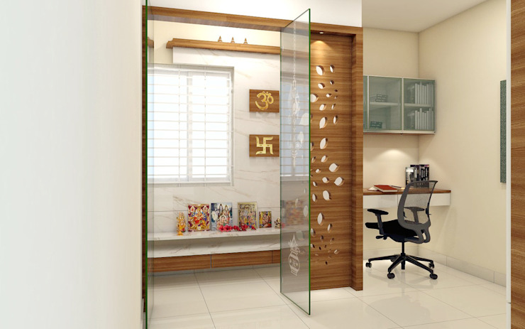Asian style study/office by shree lalitha consultants Asian Plywood
