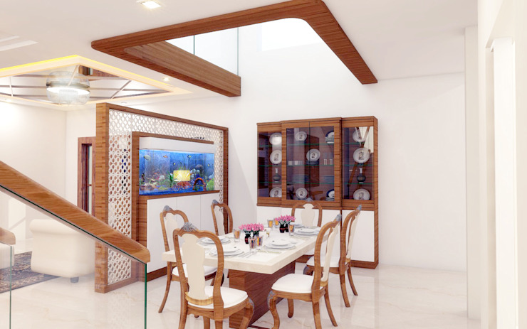 PENTHOUSE DESIGNS Asian style dining room by shree lalitha consultants Asian Plywood