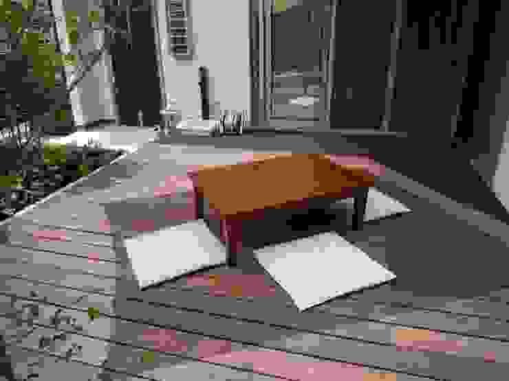 よしだみわこ建築設計事務所 Modern style balcony, porch & terrace