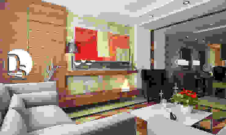 Living room تنفيذ Devine Designs