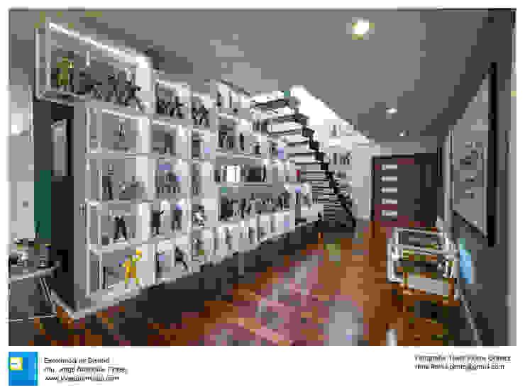 Modern corridor, hallway & stairs by Excelencia en Diseño Modern Wood Wood effect