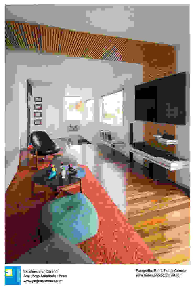 Ruang Media Modern Oleh Excelencia en Diseño Modern Kayu Wood effect