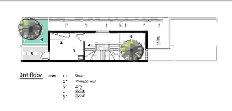 T HOUSE. bởi AE STUDIO DESIGN Hiện đại