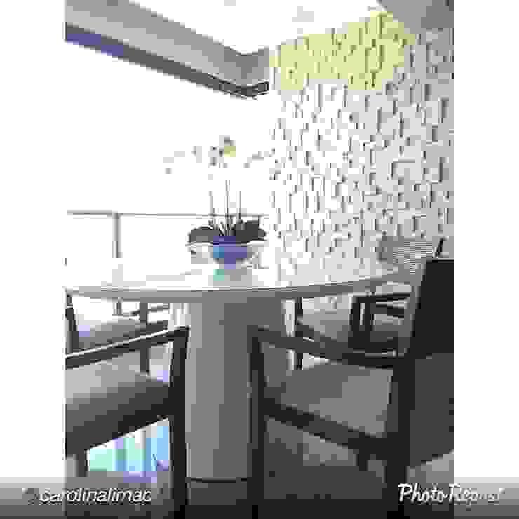 Travertine Block 20 Salas de jantar rústicas por Guaraúna Revestimentos Rústico