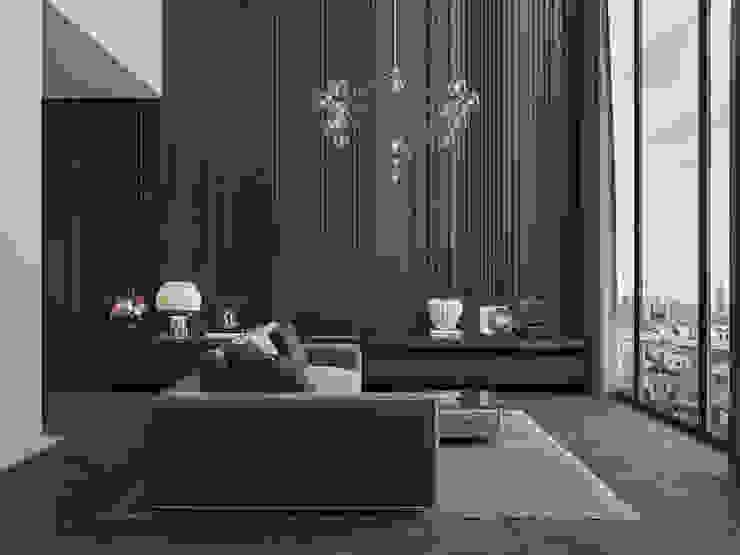 Appartamento di 98 mq uso affitto di lusso Soggiorno moderno di Archventil - Architecture and Design Studio Moderno