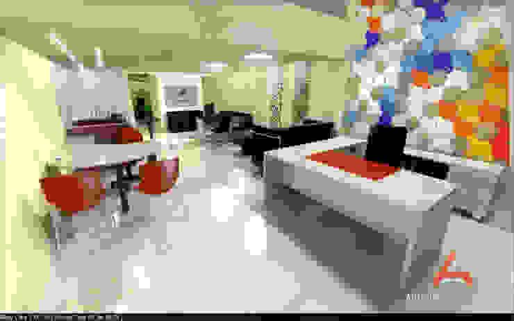Oficina-Empresa Estudios y oficinas modernos de Aida Tropeano & Asoc. Moderno