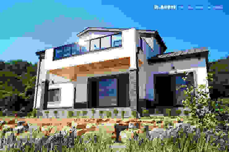 오창 50평형 ALC전원주택 by W-HOUSE 모던 석회암