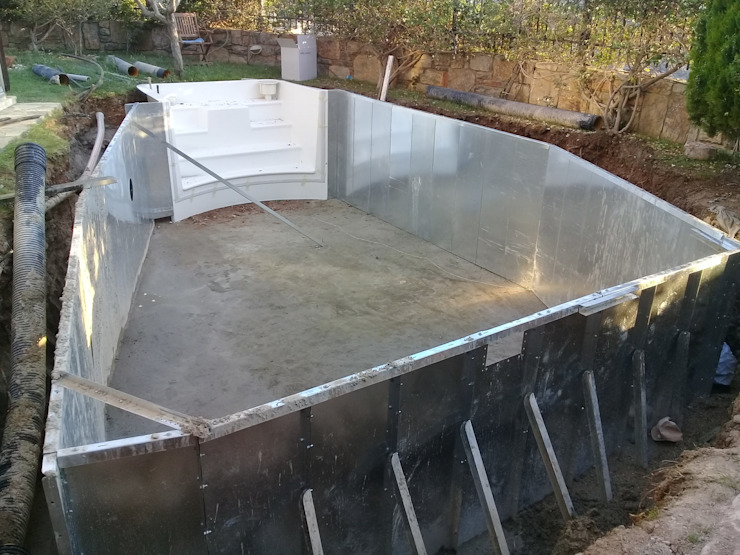 Ö. Ersel Sıdar Pool&Dome Yüzme Havuzları ve Şişme Kapamalar Bahçe havuzu Demir/Çelik