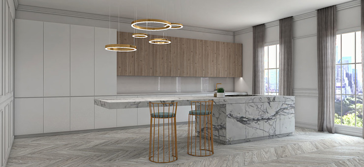 Schuster Innenausbau Built-in kitchens Marble White