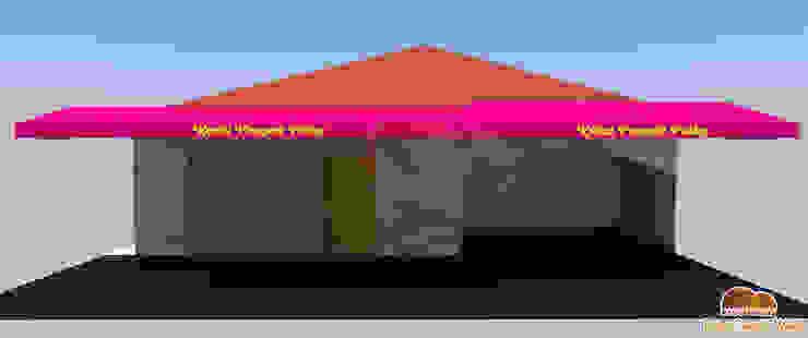 Model 3D Canopy kain untuk toko Pempek Oleh Putra Canopy Klasik Tekstil Amber/Gold