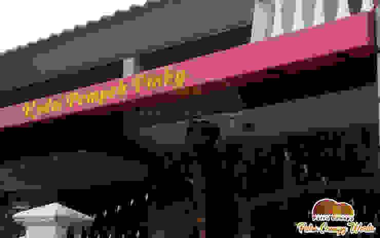 Canopy Kain Kedai Pempek Jakarta Oleh Putra Canopy Klasik Tekstil Amber/Gold