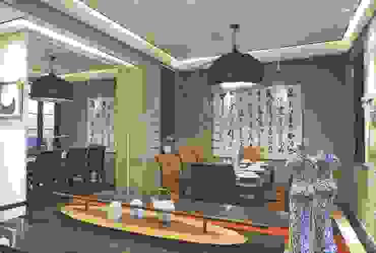 亦中亦西的自在風格│ 餐廳 大真室內裝修設計有限公司 Classic style dining room Solid Wood Wood effect