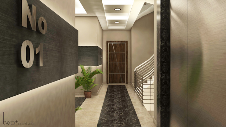 Classic style corridor, hallway and stairs by Two+architects Classic