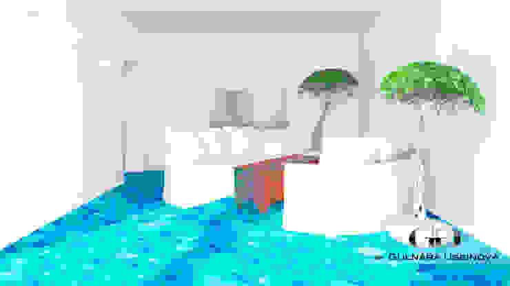 Salon méditerranéen par Дизайн интерьера под ключ - GDESIGN Méditerranéen