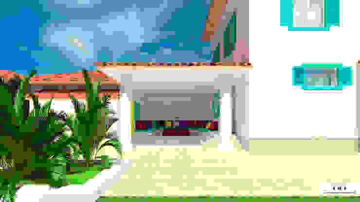 Balcon, Veranda & Terrasse méditerranéens par Дизайн интерьера под ключ - GDESIGN Méditerranéen