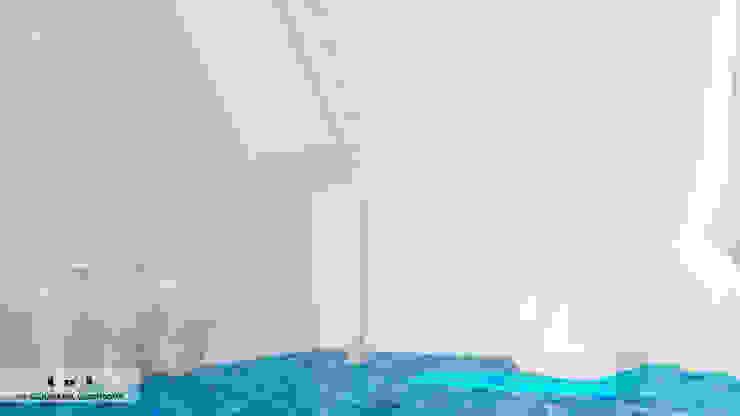 Couloir, entrée, escaliers méditerranéens par Дизайн интерьера под ключ - GDESIGN Méditerranéen