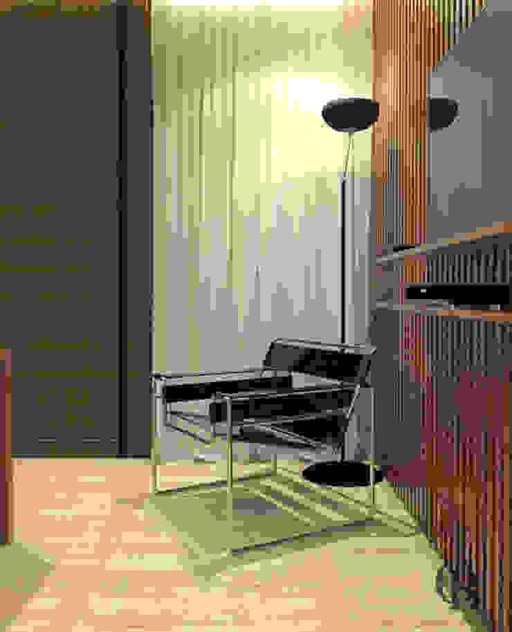 Gimnasios domésticos modernos: Ideas, imágenes y decoración de Caroline Berto Arquitetura Moderno Tablero DM