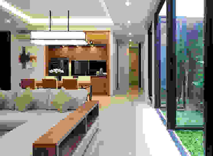 Salon tropical par Simple Projects Architecture Tropical Granite