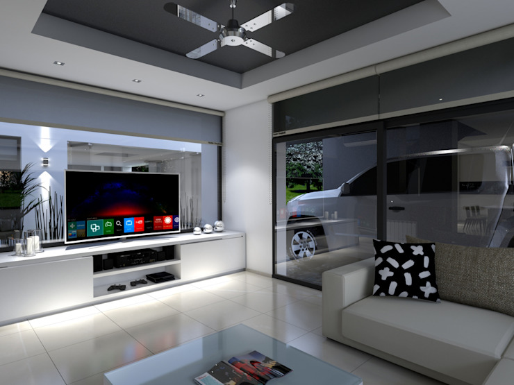 Modern Living Room by D'ODORICO ARQUITECTURA Modern