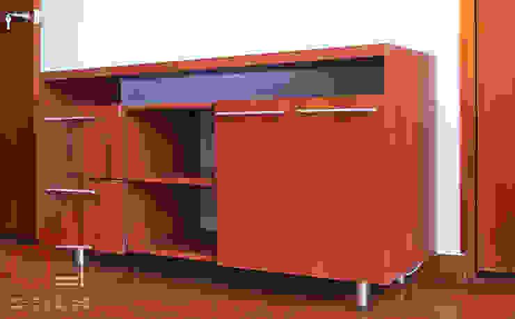 Mueble TV. de Arq. Estudio Taller Moderno Madera Acabado en madera