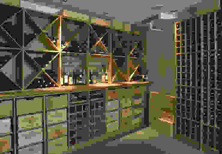 Massief eiken wijnrek. van Exaro Landelijk Hout Hout