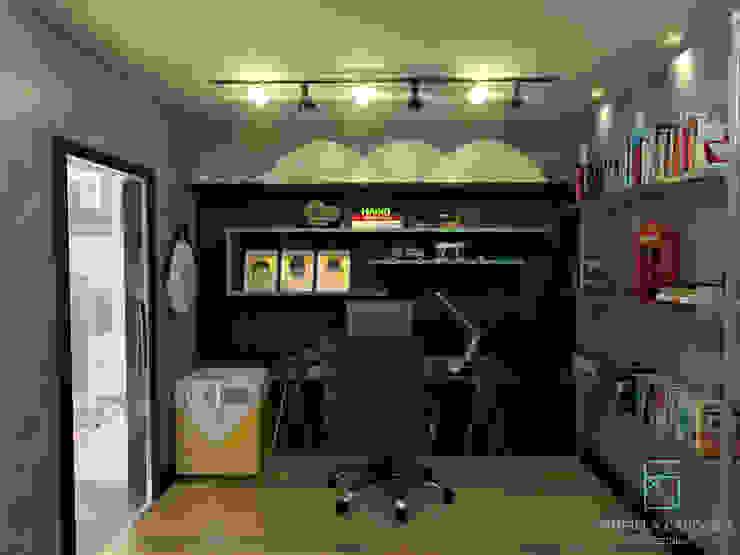 Рабочий кабинет в стиле модерн от Gabriela Cardoso Arquitetura Модерн Стекло
