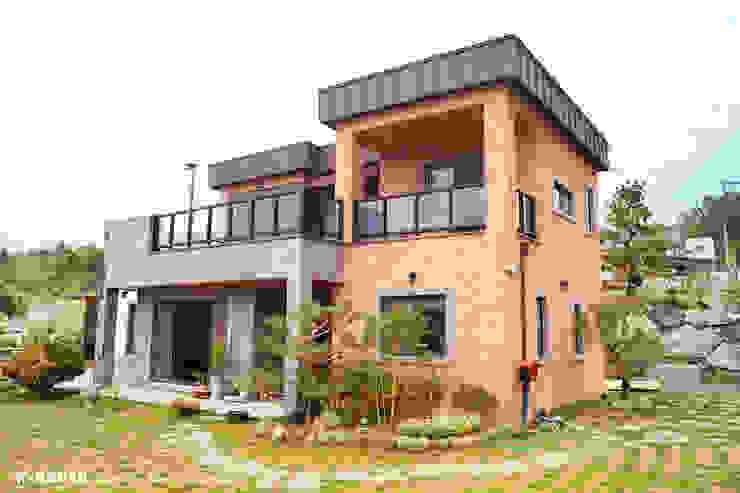 청원3호 팔봉리 45평형 ALC복층주택 by W-HOUSE 모던 석회암