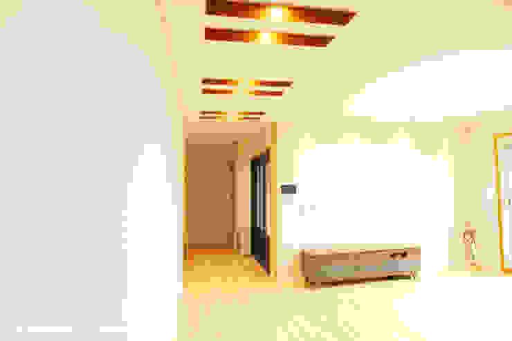 청원3호 팔봉리 45평형 ALC복층주택 모던스타일 거실 by W-HOUSE 모던 석회암
