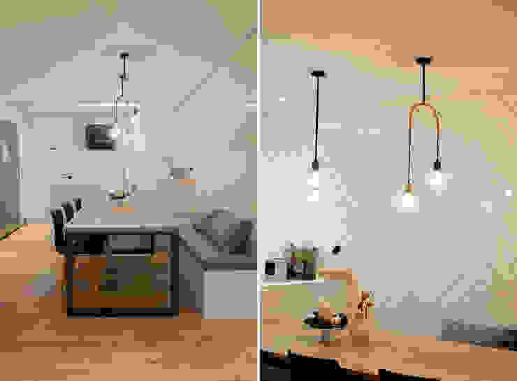 더불어 살아가는 집_서래마을 빌라 인테리어 에클레틱 다이닝 룸 by homify 에클레틱 (Eclectic)