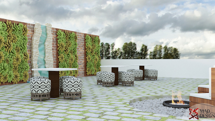 TERRACE VIEW 1 Modern balcony, veranda & terrace by homify Modern