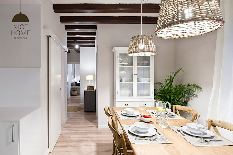 Nice home barcelona Mediterranean style dining room