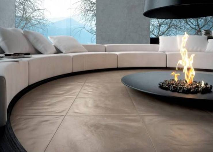A Unique Living Room Design: modern  by Spacio Collections,Modern Leather Grey