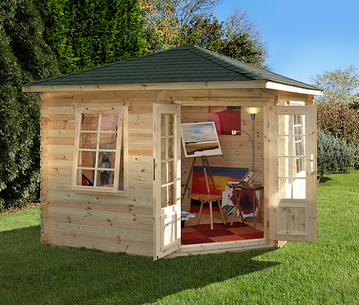 Wenlock log cabin Wonkee Donkee Forest Garden Garden Greenhouses & pavilions