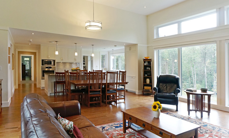 Credit River Valley House - Great Room Country style living room by Solares Architecture Country