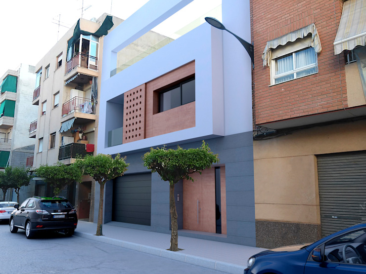 Modern houses by NUÑO ARQUITECTURA Modern Chipboard