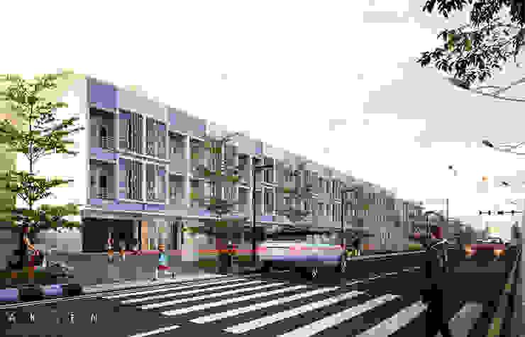 Dramaga Commercial Ruang Komersial Modern Oleh aksen architectural visualization Modern Batu Bata