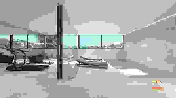 Proyecto 3D : Gimnasios domésticos de estilo  de Realistic-design, Moderno
