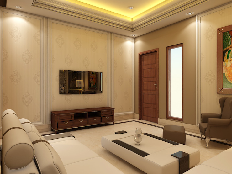 FAMILY LOUNGE Classic style living room by CONCEPTIONS Classic