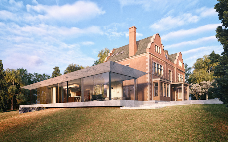 Glazed Extension for Dutch Gabled Property. HollandGreen Country house Glass