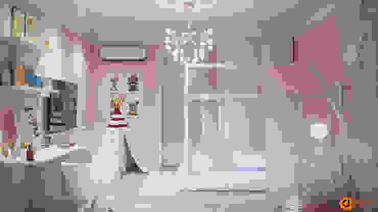 غرفة نوم بنات تنفيذ Art-i-Chok, تبسيطي