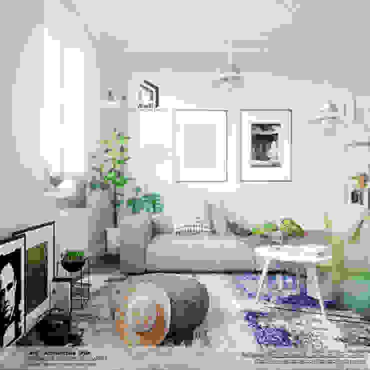 Ruang Keluarga Gaya Skandinavia Oleh AnS - Architecture Style Skandinavia