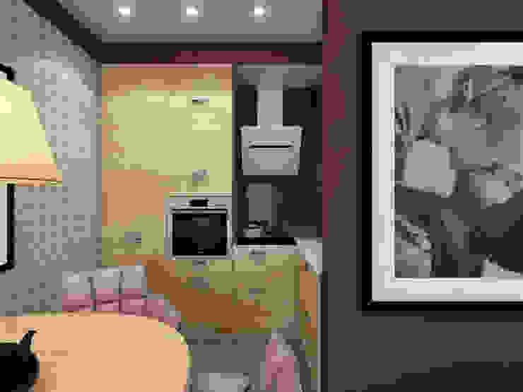 Cocinas de estilo moderno de Студия дизайна и визуализации интерьеров Ивановой Натальи. Moderno