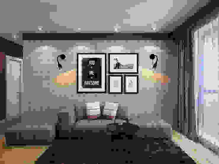 Salas de estilo moderno de Студия дизайна и визуализации интерьеров Ивановой Натальи. Moderno