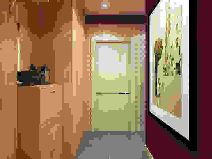 Pasillos, vestíbulos y escaleras de estilo moderno de Студия дизайна и визуализации интерьеров Ивановой Натальи. Moderno