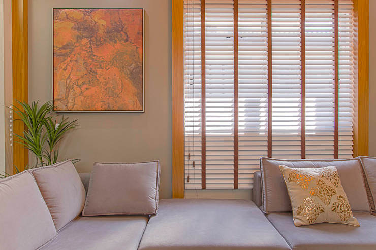 Persiana Madeira por Sgabello Interiores Moderno Madeira Efeito de madeira